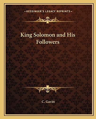 King solomon his followers abebooks fandeluxe Gallery
