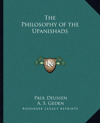 9781162602356: The Philosophy of the Upanishads