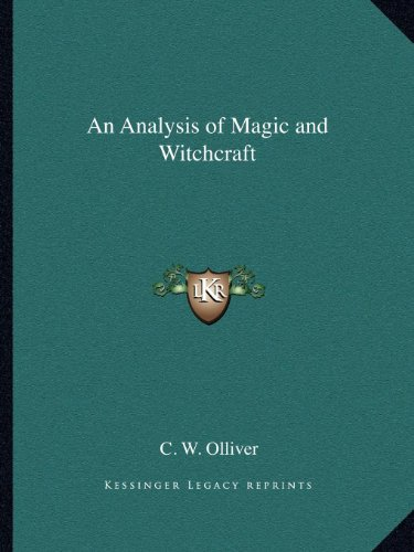 9781162604121: An Analysis of Magic and Witchcraft