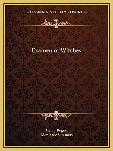 9781162605265: Examen of Witches