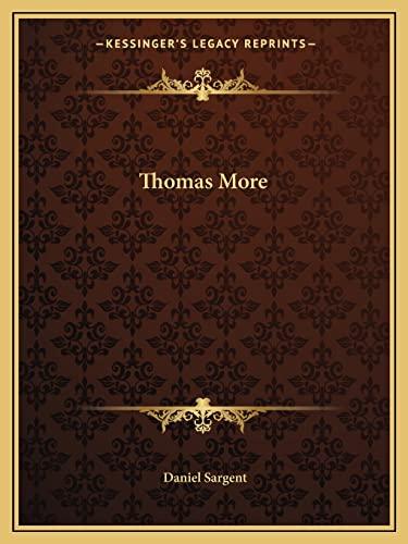 9781162609942: Thomas More