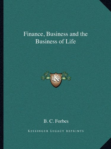 9781162612805: Finance, Business and the Business of Life