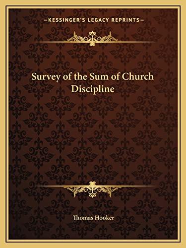 9781162615158: Survey of the Sum of Church Discipline