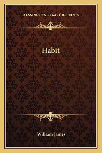 9781162615806: Habit