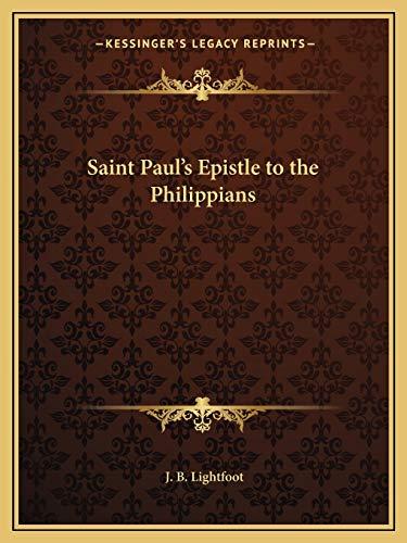 9781162621074: Saint Paul's Epistle to the Philippians