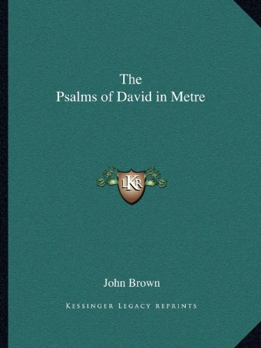 9781162623931: The Psalms of David in Metre
