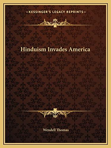 9781162624549: Hinduism Invades America
