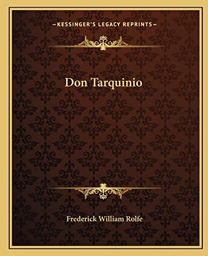 9781162660226: Don Tarquinio