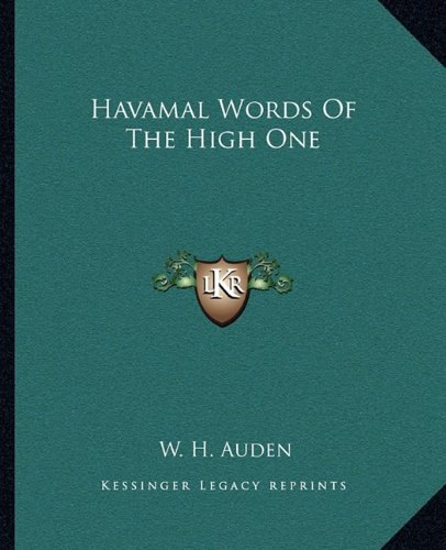 9781162665375: Havamal Words Of The High One