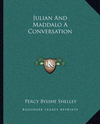 9781162669526: Julian and Maddalo a Conversation