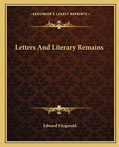 9781162670577: Letters And Literary Remains