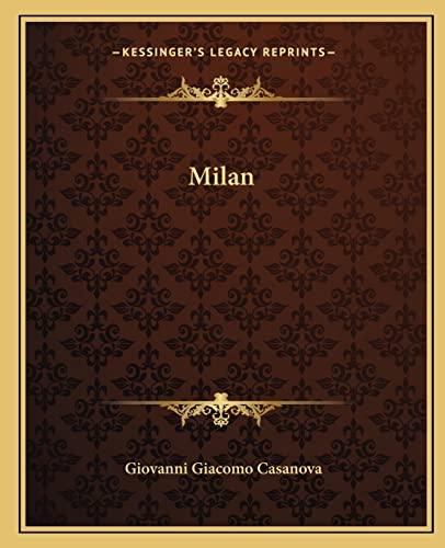 9781162673967: Milan