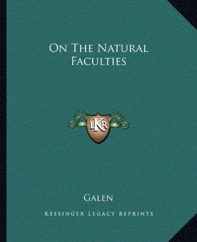9781162677606: On The Natural Faculties