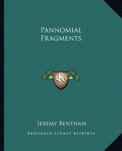 9781162678658: Pannomial Fragments