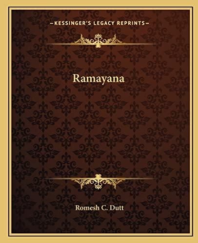 9781162681467: Ramayana