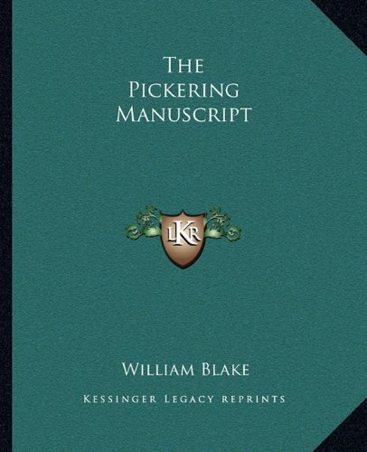 9781162704692: The Pickering Manuscript