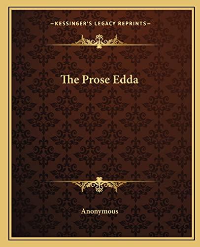 9781162705972: The Prose Edda