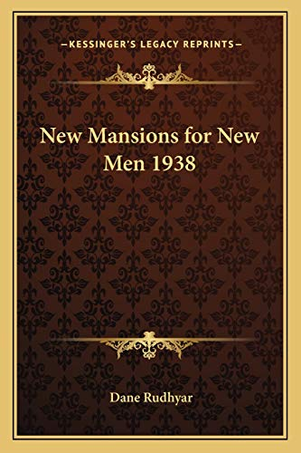 9781162734248: New Mansions for New Men 1938