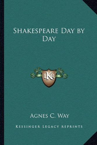 9781162741697: Shakespeare Day by Day