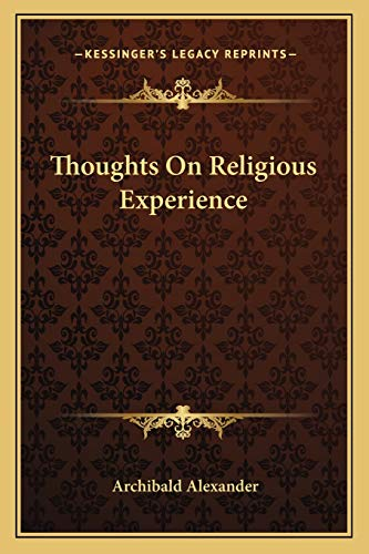 9781162743448: Thoughts On Religious Experience