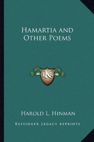 9781162749563: Hamartia and Other Poems