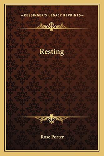 9781162752723: Resting