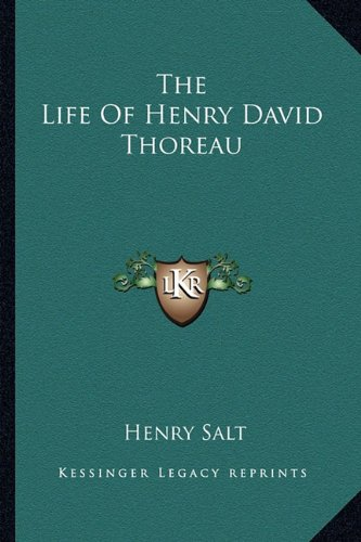 9781162756875: The Life Of Henry David Thoreau