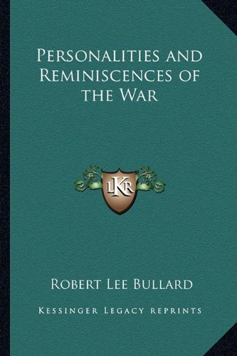 9781162788678: Personalities and Reminiscences of the War