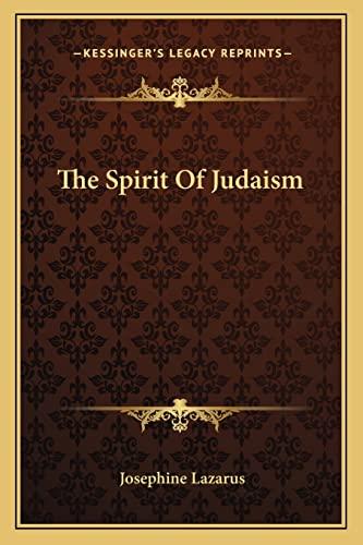 9781162793221: The Spirit Of Judaism