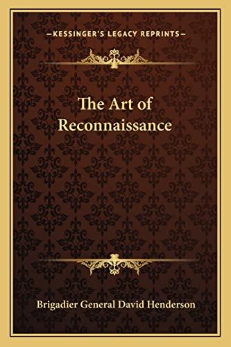 9781162799056: The Art of Reconnaissance