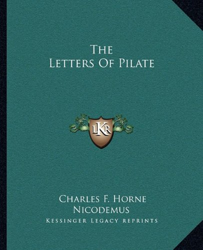 9781162824161: The Letters Of Pilate