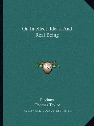 9781162831183: On Intellect, Ideas, And Real Being