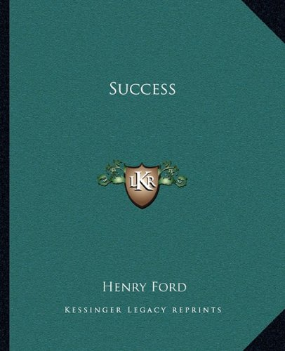 Success (1162867795) by Henry Ford