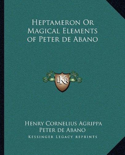heptameron magical elements peter abebooks