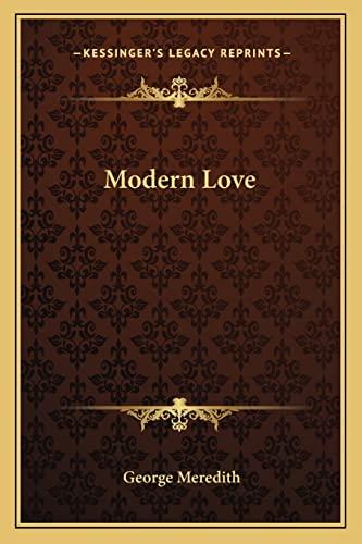 9781162896472: Modern Love