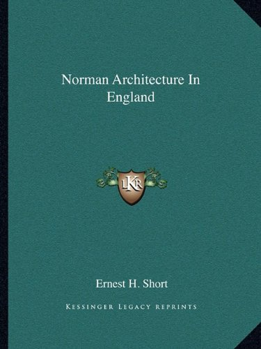 9781162897172: Norman Architecture In England