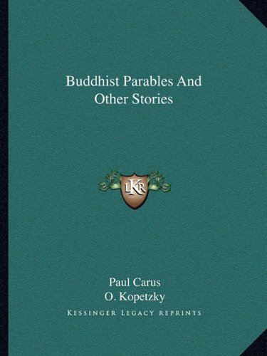 9781162904818: Buddhist Parables And Other Stories