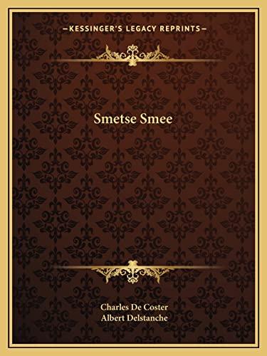 9781162905693: Smetse Smee