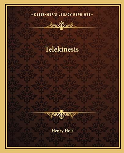 9781162911205: Telekinesis