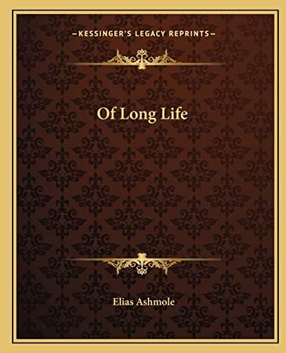 9781162911649: Of Long Life