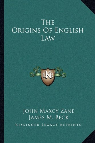 9781162912004: The Origins Of English Law
