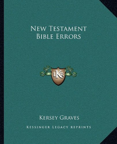 9781162913971: New Testament Bible Errors