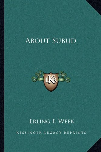 9781162922539: About Subud