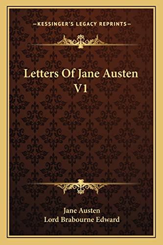 9781162944937: Letters Of Jane Austen V1