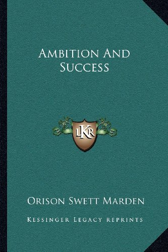 9781162945897: Ambition And Success