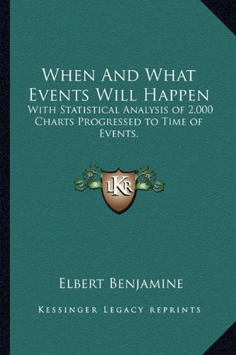 9781162960401: When And What Events Will Happen: With Statistical Analysis of 2,000 Charts Progressed to Time of Events.