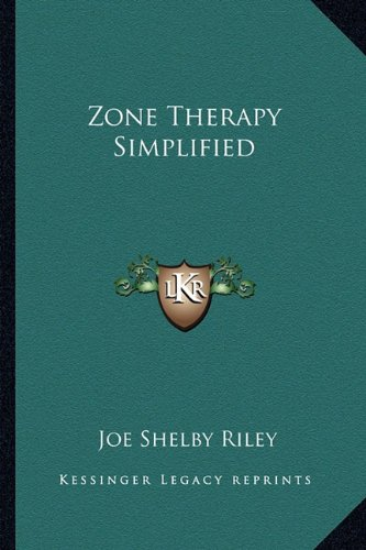 9781162961255: Zone Therapy Simplified
