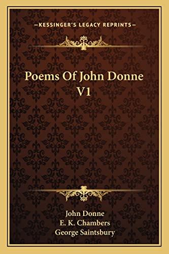 9781162967592: Poems Of John Donne V1