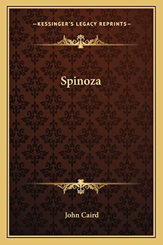 9781162971926: Spinoza