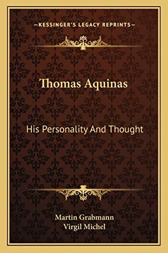 9781162978567: Thomas Aquinas: His Personality And Thought